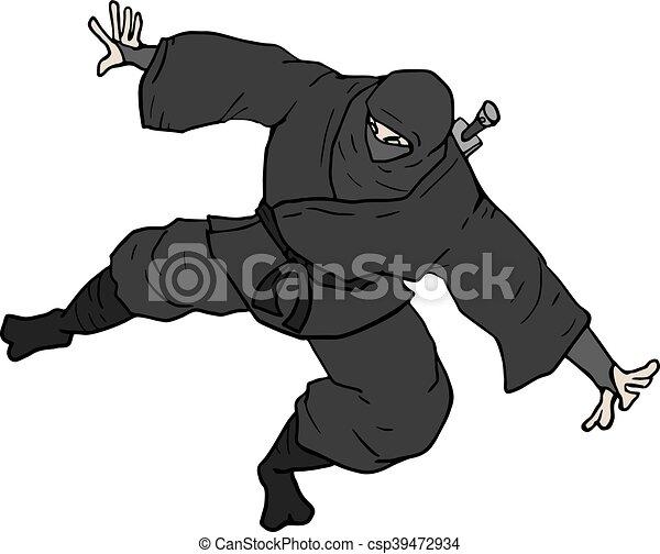 Ilustración ninja - csp39472934