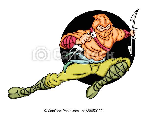 Pelea ninja japonesa - csp28650930
