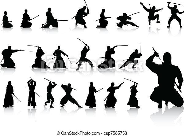 Ninjas - csp7585753