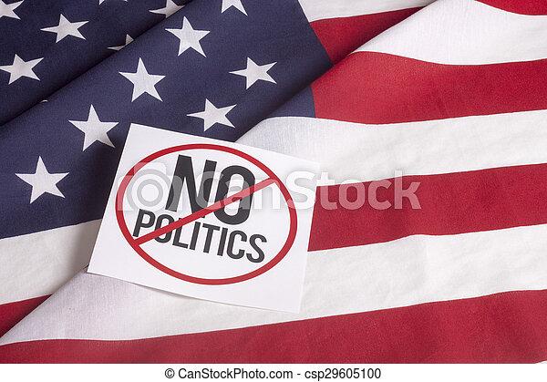 Bandera americana, sin política - csp29605100