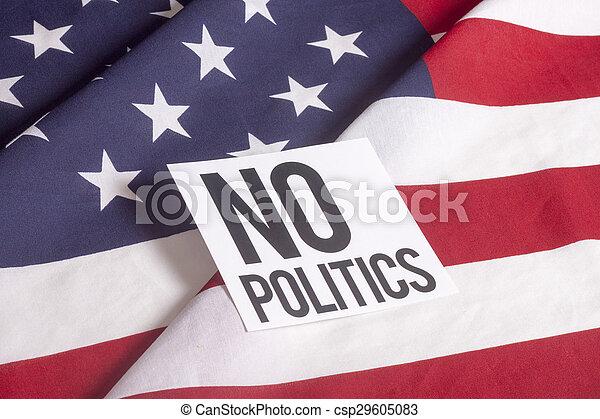 Bandera americana, sin política - csp29605083