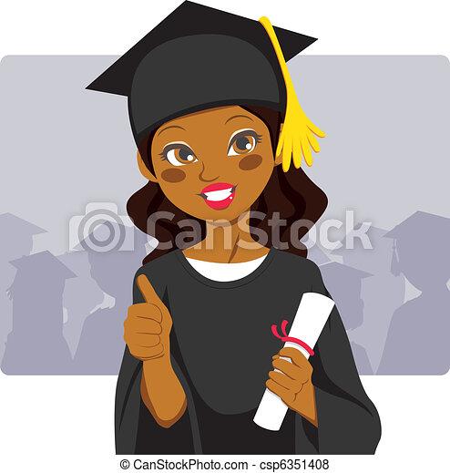 Graduado afroamericano - csp6351408
