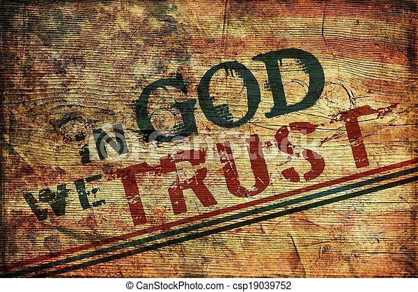 En Dios confiamos - csp19039752