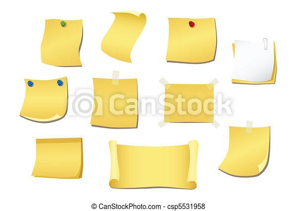 Una nota amarilla - csp5531958