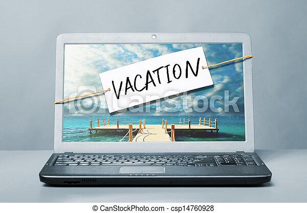 Una nota de vacaciones - csp14760928