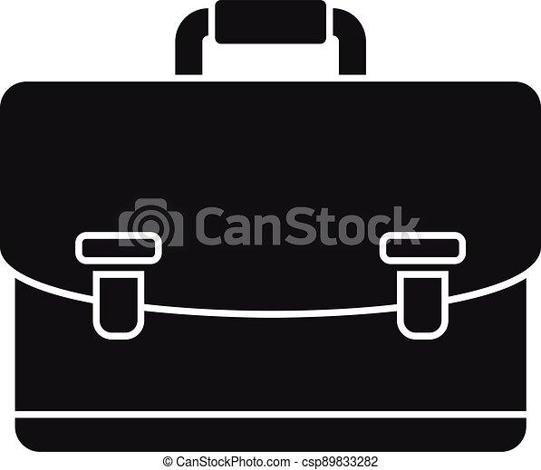 notary, maletín, simple, icono, estilo - csp89833282
