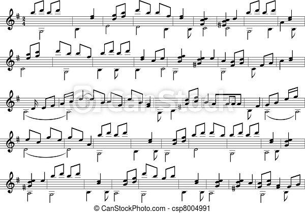 Notas de música. - csp8004991