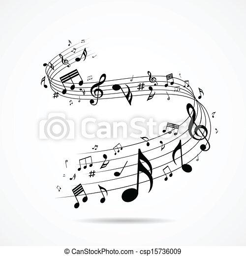 Notas musicales diseñadas aisladas - csp15736009