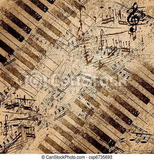 Notas de música - csp6735693