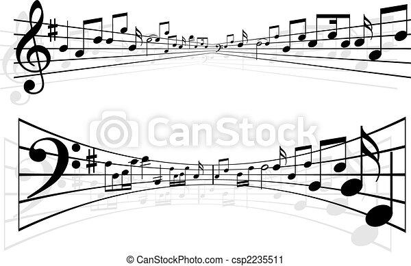 Notas musicales - csp2235511