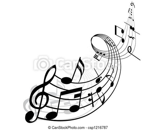 Notas musicales - csp1216787