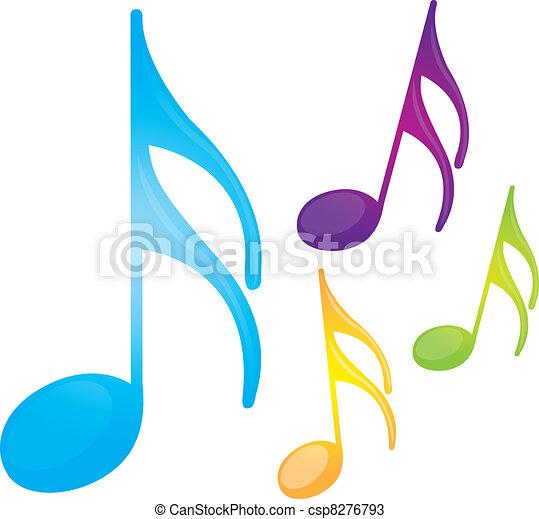 Notas musicales - csp8276793
