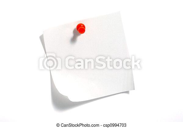 Nota papel - csp0994703