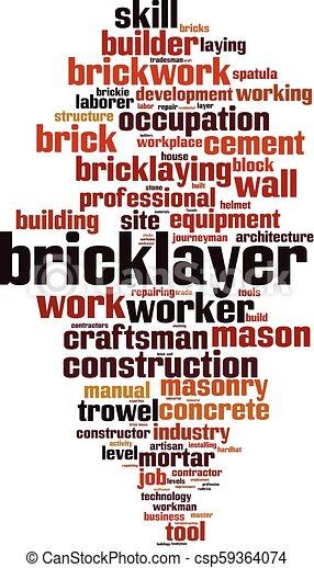 Nube de palabra Bricklayer - csp59364074