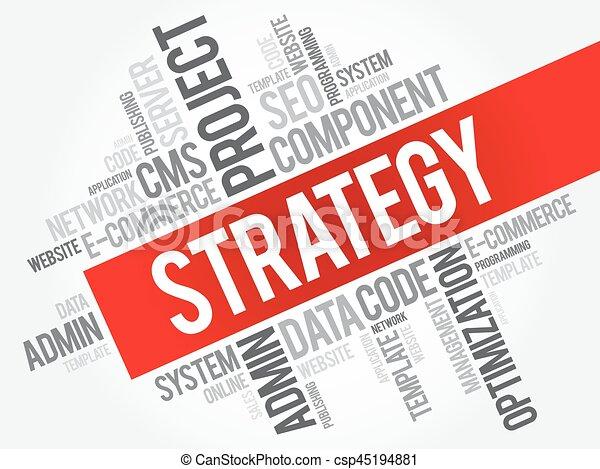 Nube de palabra de estrategia - csp45194881