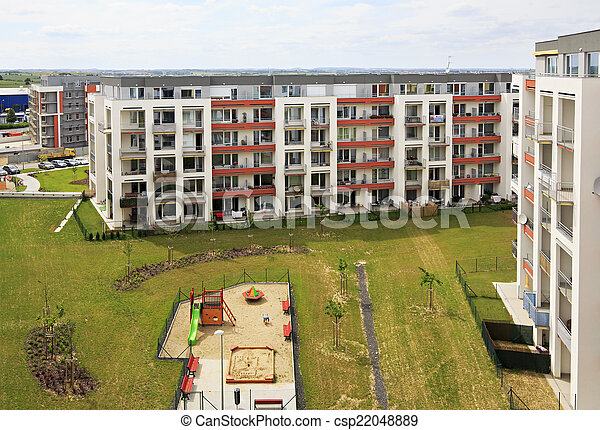 Nuevo complejo residencial en Praga. - csp22048889