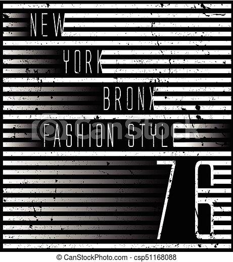 Diseño de tipografía de Nueva York - csp51168088