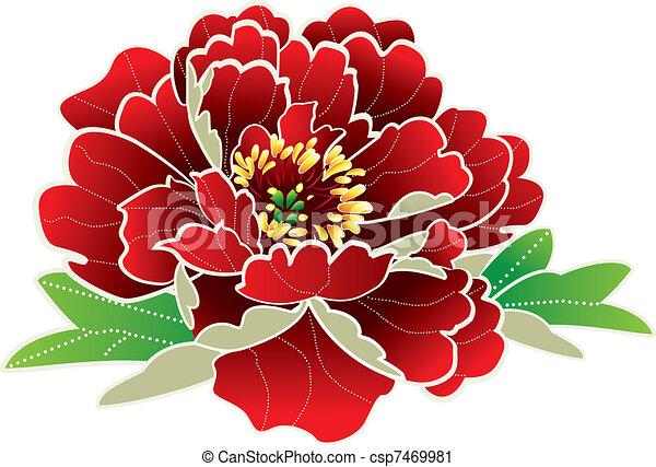 Flor de año chino - csp7469981