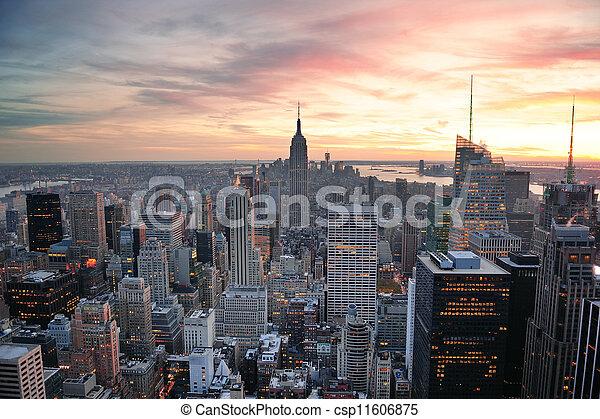 El atardecer de Nueva York - csp11606875