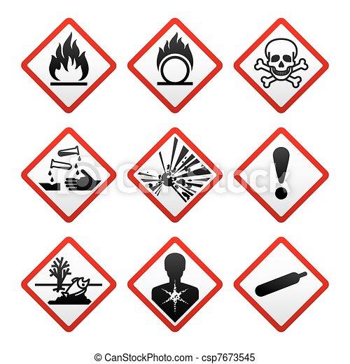 Nuevos símbolos de seguridad - csp7673545