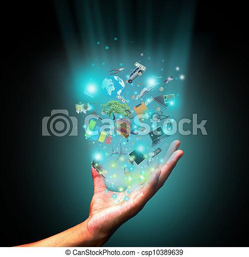 La mano sujeta el objeto - csp10389639