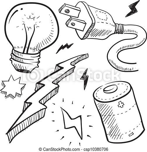 Objetos de electricidad - csp10380706
