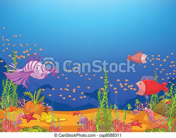 Océano de cartón - csp8588311