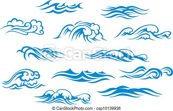 Océano y olas marinas - csp10139938
