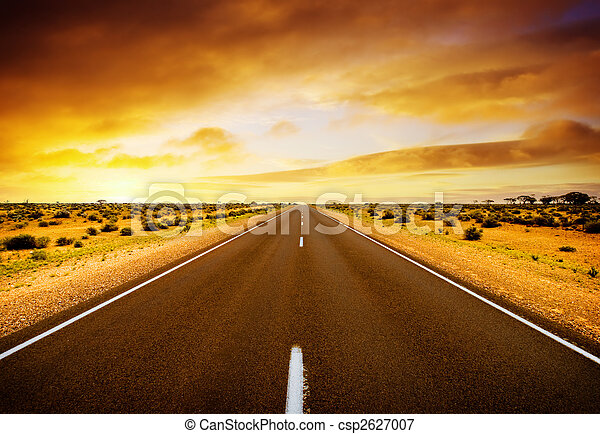 Sunset road - csp2627007