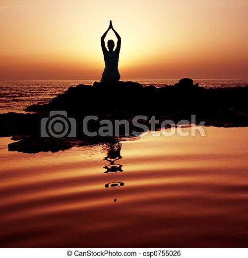 yoga Sunset - csp0755026
