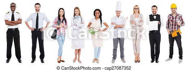 Diferentes ocupaciones. Collage de personas en una ocupación diferente - csp27087352