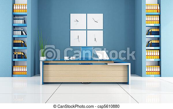 Oficina contemporánea azul - csp5610880