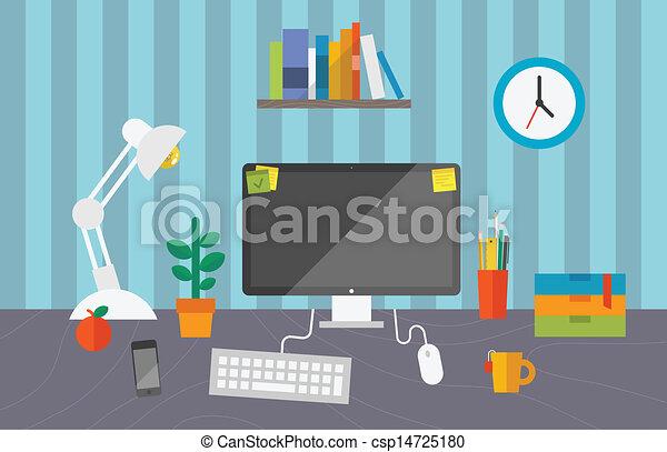 Trabajo en la oficina - csp14725180