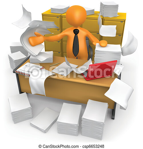 Oficina desordenada - csp6653248