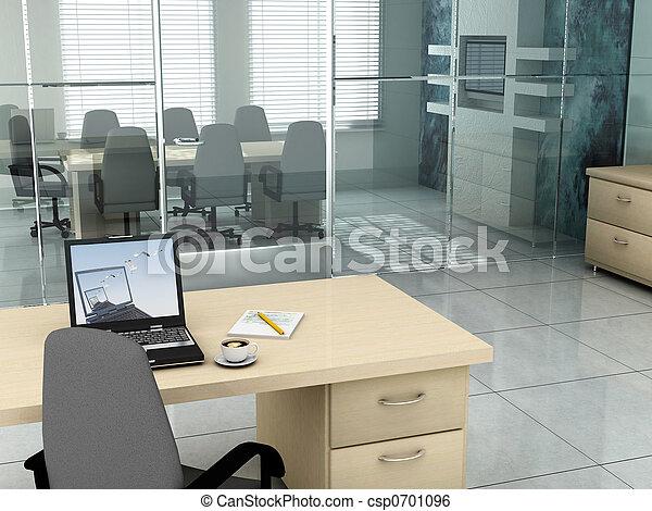 Oficina por la mañana - csp0701096