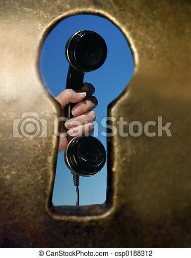 El teléfono de la cerradura - csp0188312