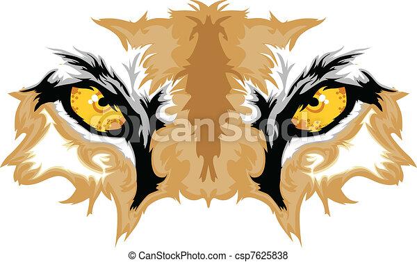 Ojos de puma gráficos - csp7625838