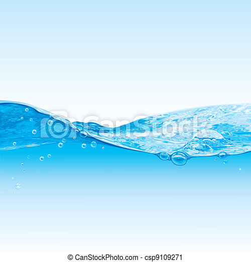 Ola de agua con burbujas - csp9109271