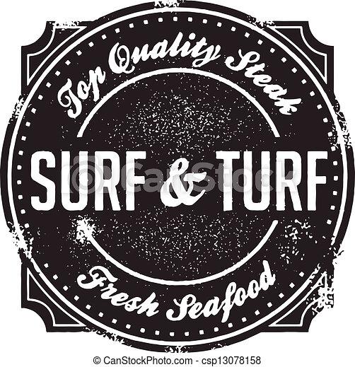 El clásico sello del surf y del menú - csp13078158