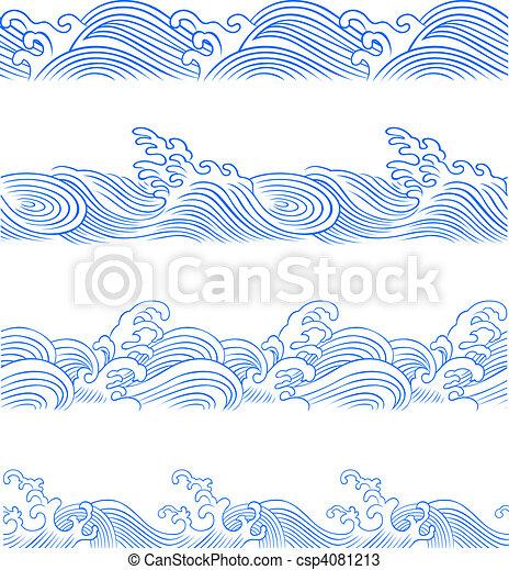 Onda oceánica lista - csp4081213