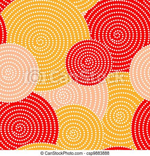 Ondas del círculo del otoño - csp9883888