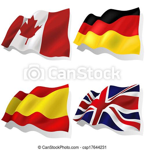 Banderas onduladas - csp17644231