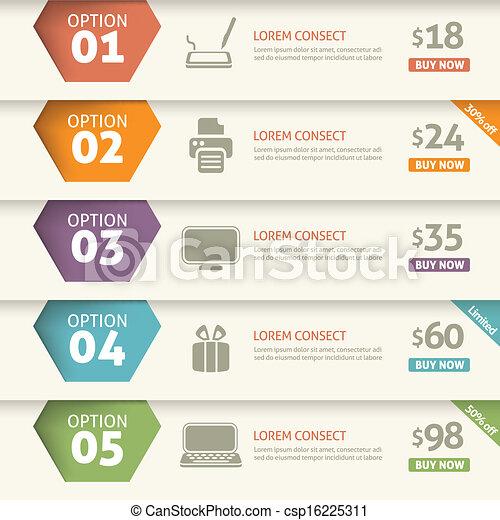 Opción y precio infográfico - csp16225311