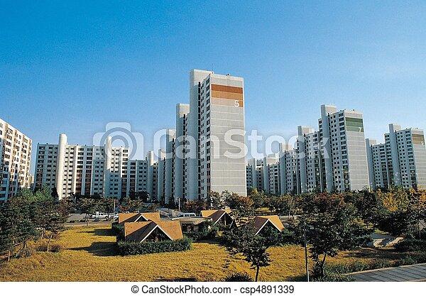 La vista de la ciudad - csp4891339