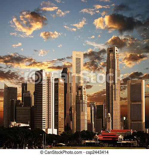 Una vista de la ciudad singapore - csp2443414