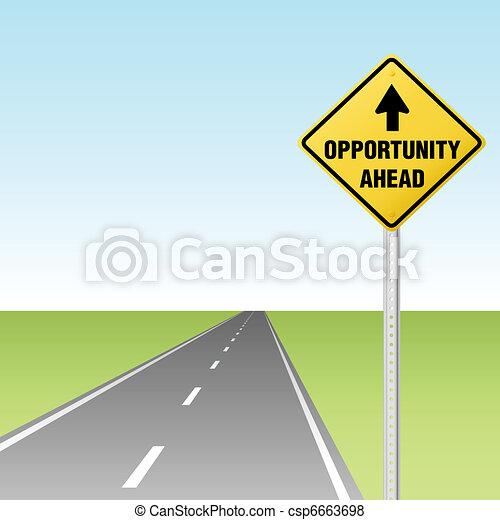 Oportunidad en la carretera - csp6663698