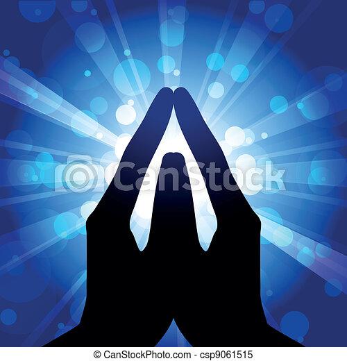 Oración: ilustración vectora - csp9061515