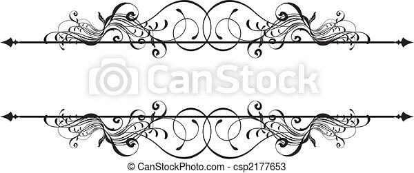 Estandarte ornamental de belleza - csp2177653