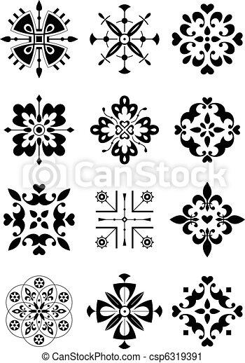 Ornamento, decoración, patrón - csp6319391