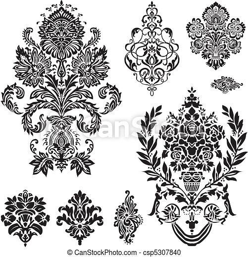 Ornamento Vector damasco - csp5307840